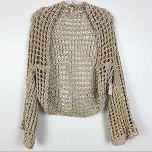 Free People Trinity Shrug Crochet Open Knit S